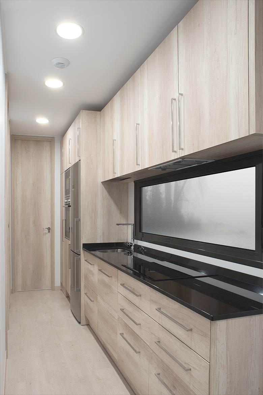 Cocina casa modular.