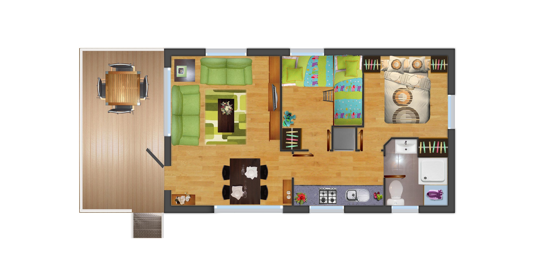 Casa prefabricada en oferta m naco i con porche lercasa - Casas prefabricadas oferta ...