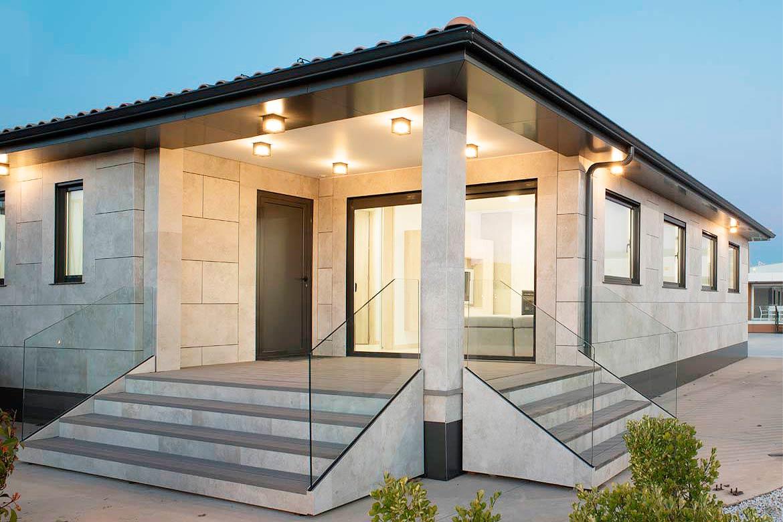 Casa prefabricada aspecto tradicional