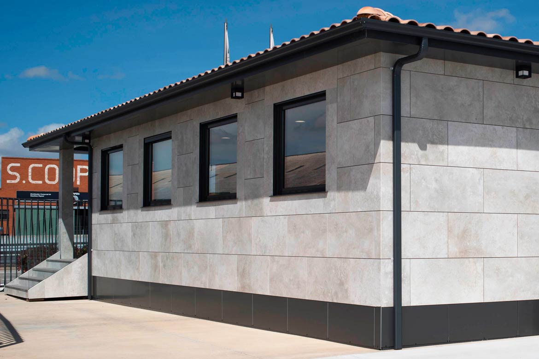 Casa prefabricada fachada cerámica