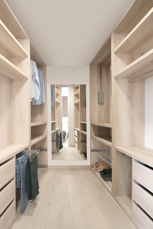 Vestidor casa modular.