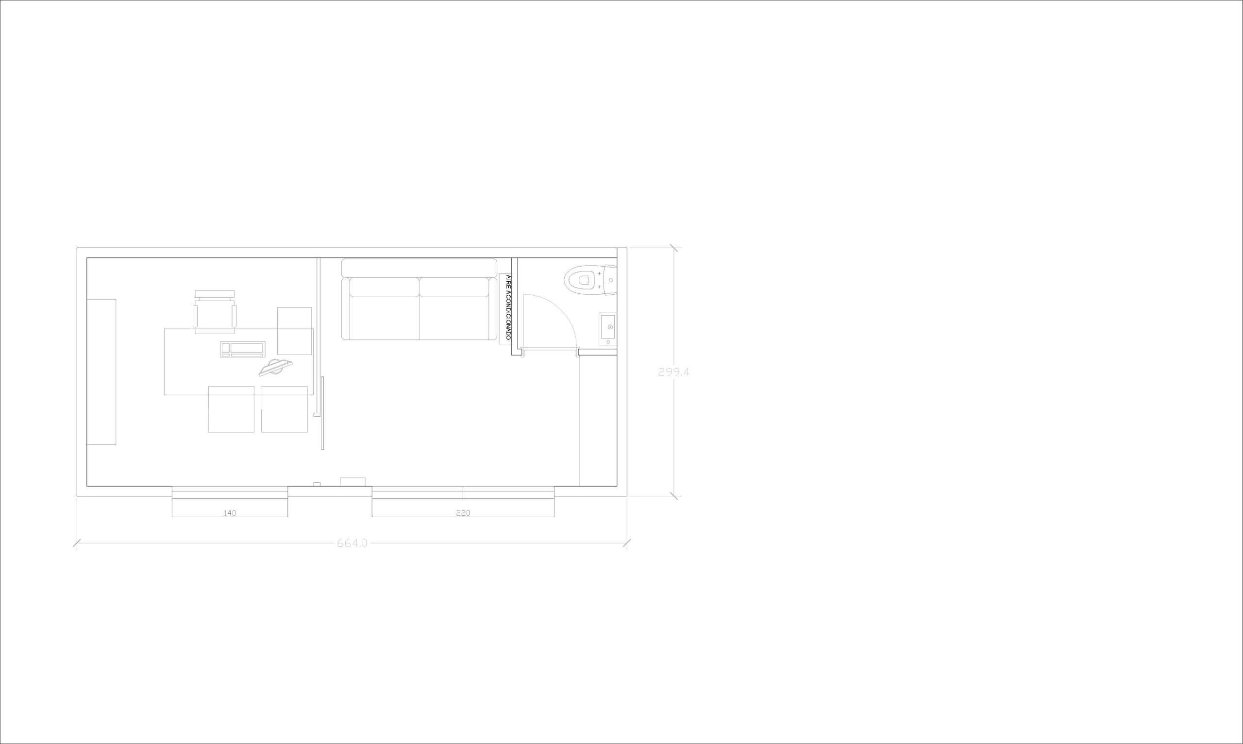 Plano minicasa oficina