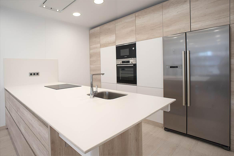 Cocina casa prefabricada.