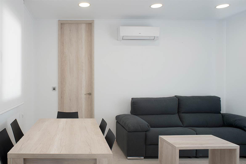 Salón casa modular.