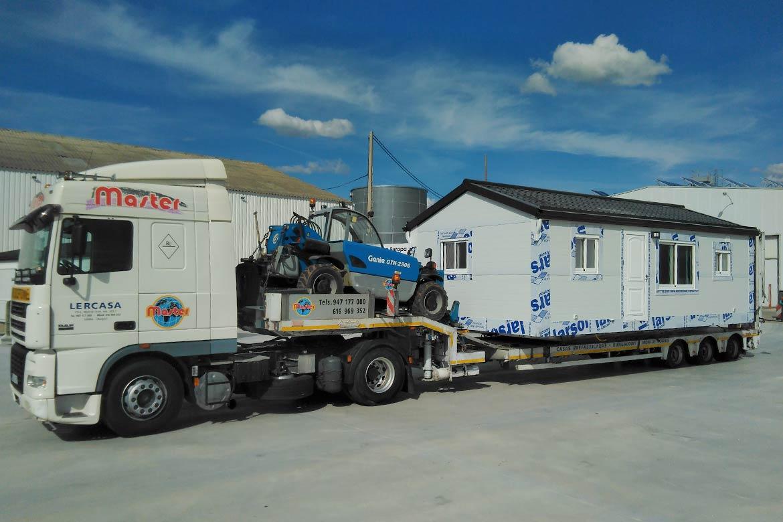 Transporte casas prefabricadas