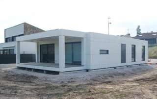 Exterior casa prefabricada en Navarra