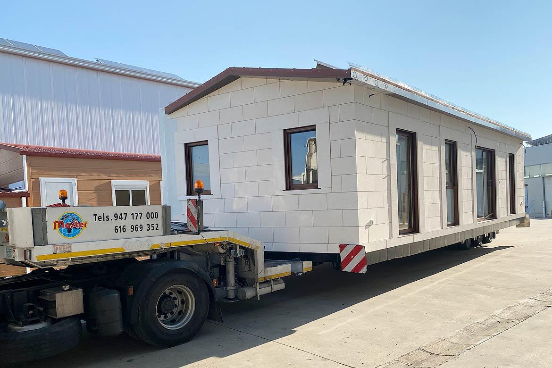 Transporte de casas prefabricadas