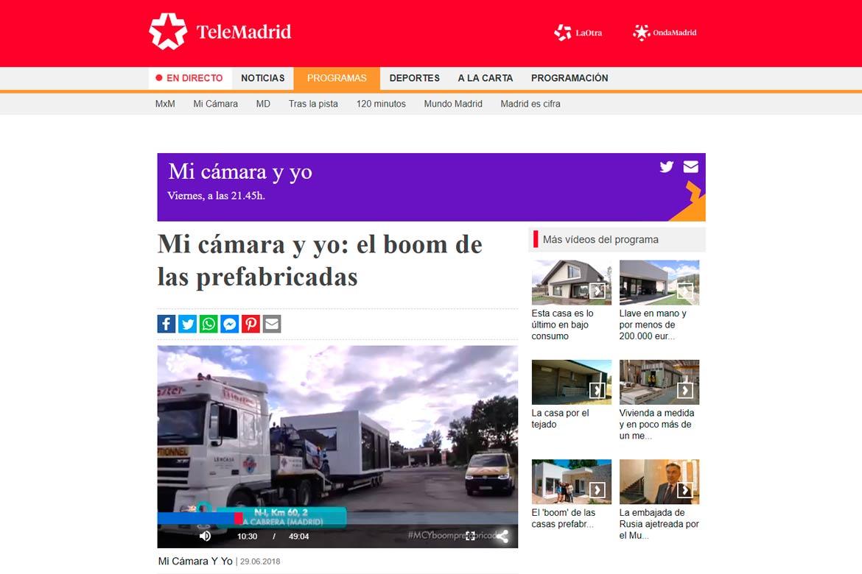 Casas prefabricadas Telemadrid