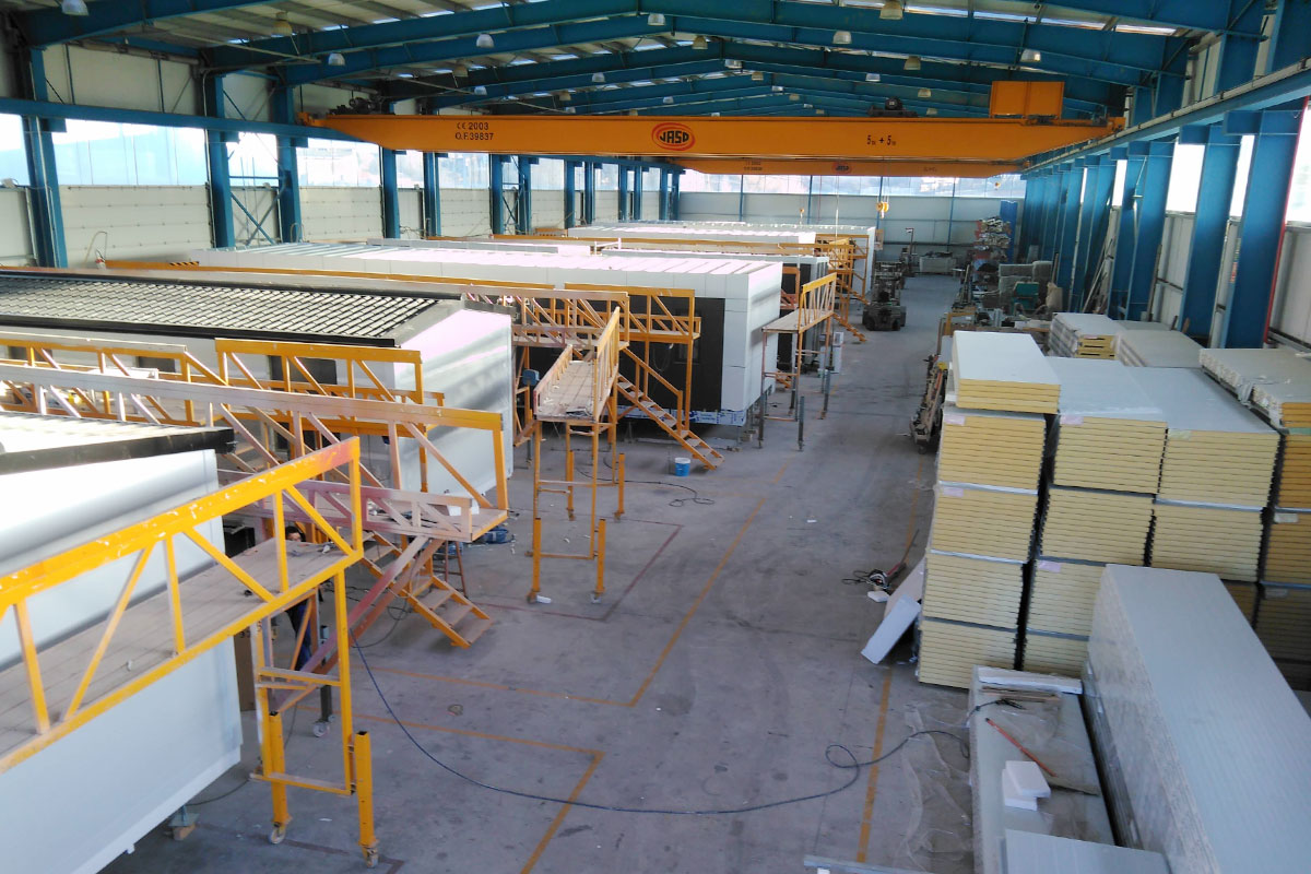 Nave producción casas prefabricadas