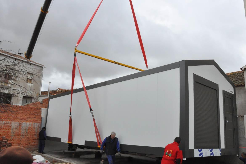 Instalación casas modulares