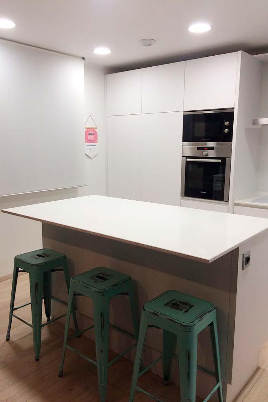 Casa prefabricada cocina integrada en salón