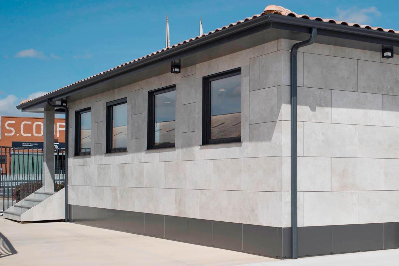 Fachada casa modular.