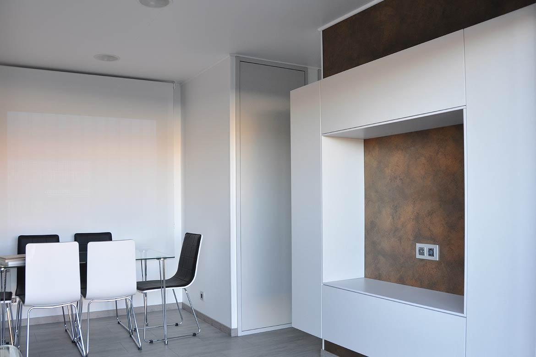 Salón casa modular moderna